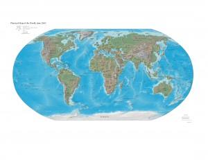 Carte du monde en HD en 2003